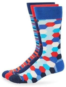 Three-Pack Multicolored Socks
