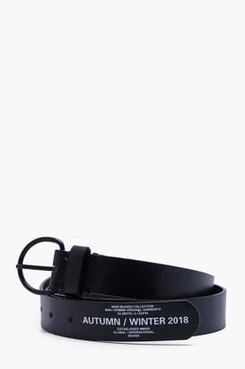 boohoo Faux Leather O Ring AW18 Print Belt
