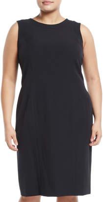 Kasper Plus Jewel-Neck Stretch-Crepe Sheath Dress, Plus Size