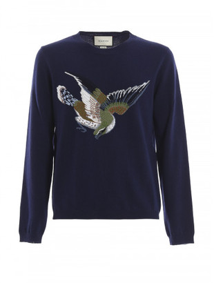 Gucci Bird & '25' Jacquard wool sweater $1,160 thestylecure.com