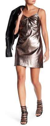 1 STATE 1.State Metallic Faux Leather Dress