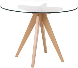 Zanui Coastal Bleeker Round Glass Dining Table