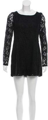 Alice by Temperley Lace Long-Sleeve Romper $95 thestylecure.com