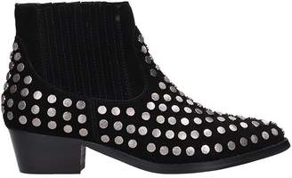 Bibi Lou Black Suede Leather Boots