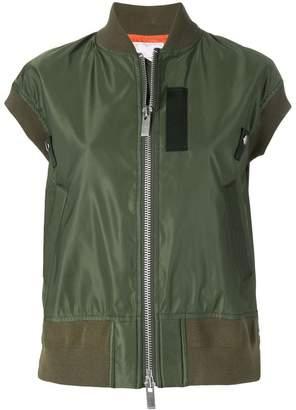 Sacai shortsleeved bomber jacket