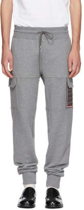 Moncler Grey Tapered Cargo Sweatpants