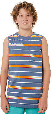 St Goliath New Boys Kids Boys Benny Muscle Crew Neck Cotton Blue