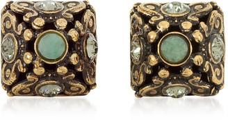Alcozer & J Pyramid Earrings w/Semi Precious Stones