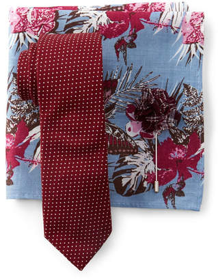 Original Penguin Zenzo Dot Bow Tie, Pocket Square, & Lapel Pin Set