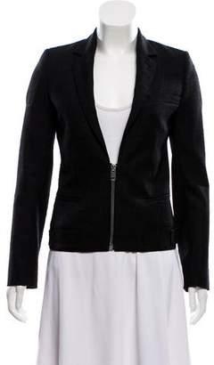 Christian Dior Wool Zip-Up Blazer