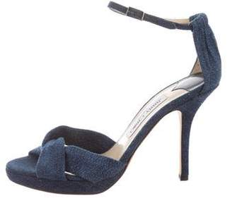 Jimmy Choo Denim Platform Sandals