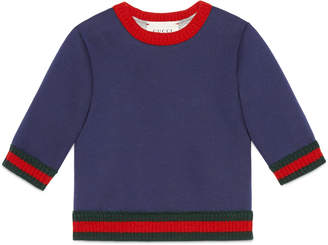 Gucci Baby jersey sweatshirt with Web