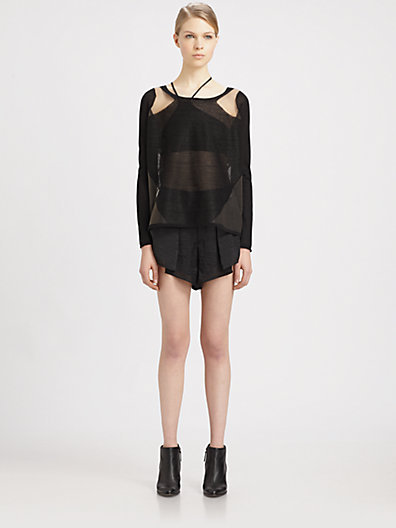Helmut Lang Chroma Draped Shorts