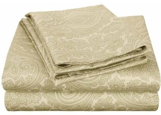 Superior 600 Thread Count Wrinkle-Resistant Luxury Cotton Italian Paisley Sheet Set