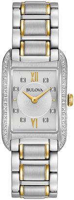 Bulova Womens Two Tone Bracelet Watch-98r227 $550 thestylecure.com