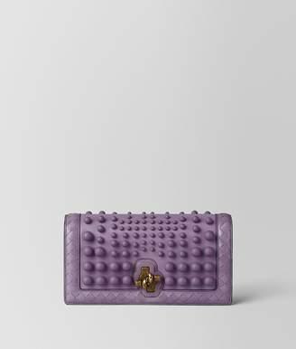 Bottega Veneta Lilac Nappa Spheres Knot Clutch