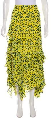 Tanya Taylor Silk Maxi Skirt