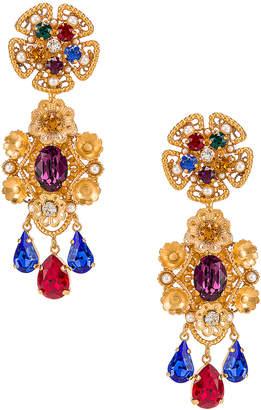 Dolce & Gabbana Flower Drop Earrings in Gold | FWRD