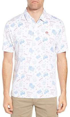 Travis Mathew Ahh Yeah Regular Fit Short Sleeve Sport Shirt