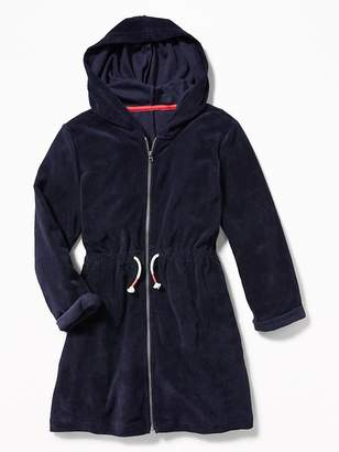 Old Navy Hooded Loop-Terry Swim Cover-Up for Girls