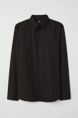 H&M Shirt Muscle fit - Black