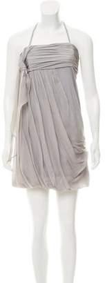 Alice + Olivia Halter Silk Dress