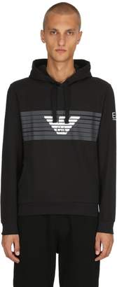Emporio Armani Ea7 Train Logo Cotton Blend Sweatshirt