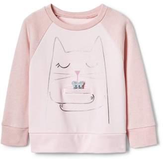 Gap Cat Raglan Sweatshirt in French Terry