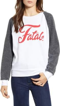 Wildfox Couture Fatale Fleece Sleeve Sweatshirt