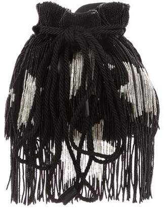 Saint Laurent Beaded Fringe Bucket Bag