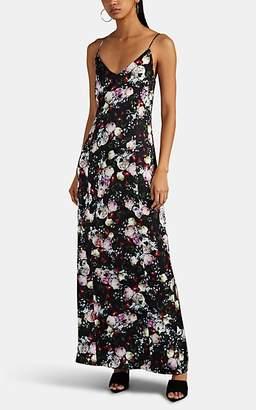 Erdem Women's Aspen Floral Satin Slip Dress - Black Pat.