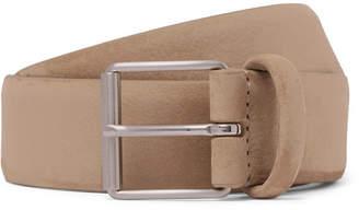 Andersons Anderson's - 3.5cm Beige Nubuck Belt - Men - Beige