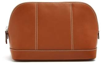 Connolly - Contrast Stitch Leather Wash Bag - Mens - Tan
