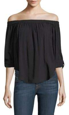 Splendid Solid Off-the-Shoulder Top