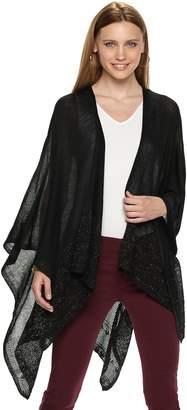Apt. 9 Women's Lace Knit Trim Ruana