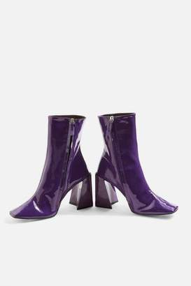 Topshop Harp Patent Ankle Boots