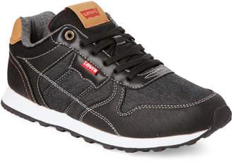 Levi's Black Tessa Denim Low-Top Sneakers