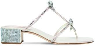 Rene Caovilla 40mm Swarovski Bows Satin Sandals