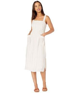 Splendid Striped Pocket Midi Dress