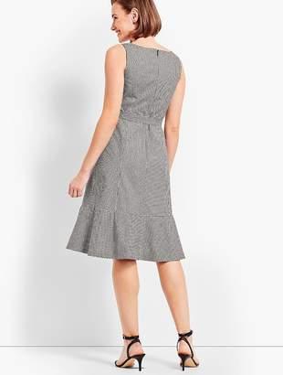 Talbots Flounce Dress - Gingham