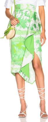 Silvia Tcherassi Waterloo Skirt in Green Bandana   FWRD