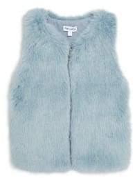 Splendid Toddler's, Little Girl's& Girl's Faux Fur Zip Front Vest