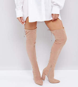 Asos DESIGN KARMA Pointy Over The Knee Boots