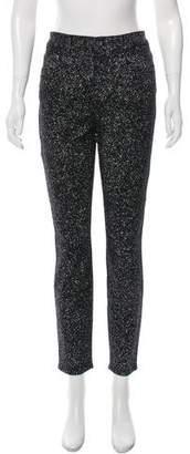 Proenza Schouler High-Rise Paint Splatter Jeans