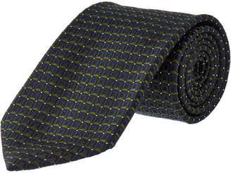 Ermenegildo Zegna Green Squares Silk Tie