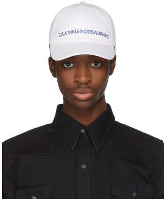 Calvin Klein White Logo Cap
