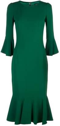 Dolce & Gabbana Fluted Sleeve Midi Dress