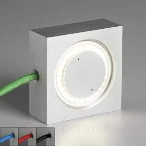 Mehrzweckleuchte Square mit LED und farbigem Kabel