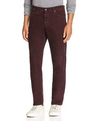 AG Jeans Everett Slim Fit Corduroy Jeans in Sulfur Rich Carmine