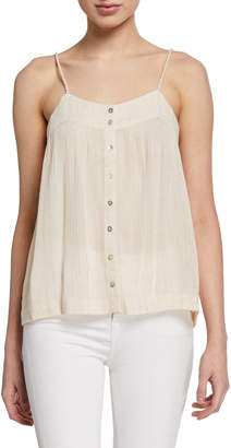 Knot Sisters Metallic Button-Front Tank